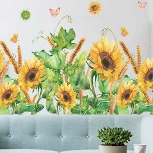 Girasole Fiori Rimovibile Muro Adesivo Arte PVC Decalcomania Casa Stanza DIY