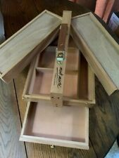 Quality Painting Drawing Box Artist Student Brush Storage Wooden Case W/Drawer