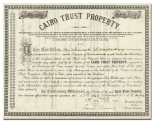 Cairo Trust Property Stock Certificate (Cairo, Illinois Drainage District)