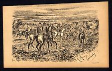 A MORNING'S CUB-HUNTING 1883 Finch Mason - Horses LITHOGRAPH