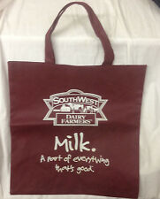 3b1c595d0769 SOUTHWEST DAIRY FARMERS BURGUNDY WOVEN PLASTIC TOTE MILK A PART OF  EVERYTHING