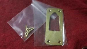 Brass output jack plate adapter for Alligator Strat style modded guitar/screws