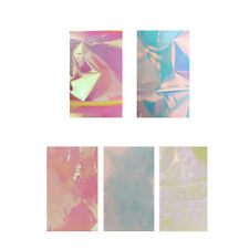 5 Candy Colors Broken Glass Stickers Foils Finger DIY Nail Art Stencil Decal HP