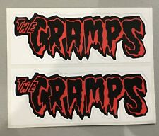 2 New unused Vinyl Stickers 15cm cramps rockabilly psychobilly car iPad meteors