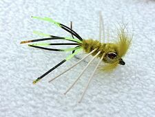 Fly Fishing Flies (Bream, Catfish, Trout, Carp, Bonefish) Carp Candy Olive (x 6)