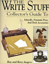Collectible Inkwells Fountain Pens Desk Accessories Etc. / Illust. Book + Values