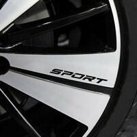 4pcs Creative Racing SPORT Car Rims Wheel Reflective Vinyl Graphic Decal Sticker