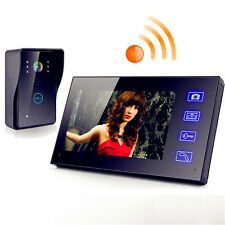 "7"" Wireless Remote Video Camera Door Phone Doorbell Intercom Monitor Security"