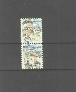 US 25c Wiley Post Mint NH Pair With Very Drastic Color Shift Error
