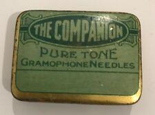 Retro Vintage Companion Pure Tone Gramophone Steel Needle Tin Advertising 1940's