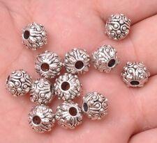 10pcs Tibetan silver charm bead spacer loose beads 10x8mm A3181