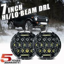 For Suzuki Samurai SJ410 7 inch CREE LED Round Headlights Pair DRL Hi/Lo Beam US