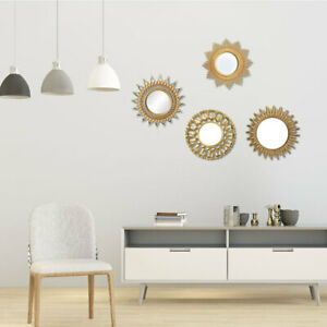 Wall Round Mirror - 10 Inch Round Wall Mounted Decorative Mirror - Gold Frame,