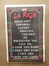 vintage Black light Viva La Raza original Mexican Call me whatever poster 11331