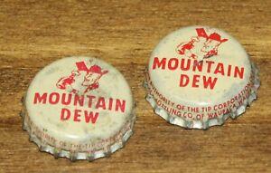2 Vintage Mountain Dew bottlecaps