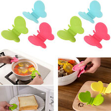Hot 1Pcs Butterfly Shaped Silicone Anti-scald Devices Kitchen Tool Gadget Random