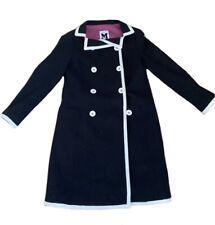 MISSONI Womens Luxury Black Trench Coat Jacket Size 4 US ITALY