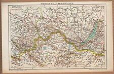 Landkarte map 1900: SIBIRIEN II. ALTAI-BAIKALSEE. Maßstab: 1:10.000.000 Russland