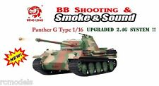 Radio Remote Control Heng lunghe 1/16 RC TANK German Panther G tipo 2.4 G UK!