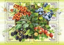 Russia 2021 Russian stamp Flora. Berries (4 stamps) 2754-2757 Ягоды MNH OG