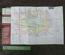 2004 Vintage LONDON Rail Map 69x42cm Underground Train Stations Tube Transport