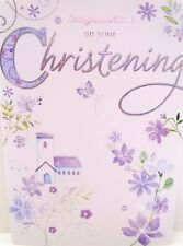"""Traditional """"ON YOUR CHRISTENING"""" Card ~ Church & Flower's"""