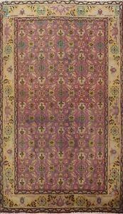 Semi Antique Traditional Handmade Area Rug Geometric Oriental Kitchen Carpet 3x5