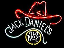"Jack Daniel's Neon Sign Light Handmade Visual Artwork Beer Bar Pub Decor17""x14"""