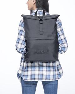 Marshall Seeker Backpack - Black/Black - Made From 40 Recycled Plastic Bottles