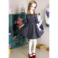 White & Black Checked Plaid Off Shoulder Strap Dress for 1/3 BJD SD Dollfie
