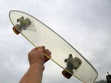 Vintage crysta sidewalk translucent skateboard surfboard 1970s very cool skater