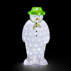 55CM The Snowman Battery Operated Acrylic Light Up LED Christmas Xmas Decoration