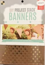 DCWV DIY Project Stack Banners Kit. Scrapbooking materials kraft paper new set