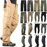 Men's Combat Tactical Cargo Trousers Outdoor Hiking Camping Military Sport Pants