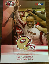 2008 DAV SAN FRANCISCO 49ERS TEAM ISSUE PHOTO CARD MIKE SINGLETARY BEARS BAYLOR