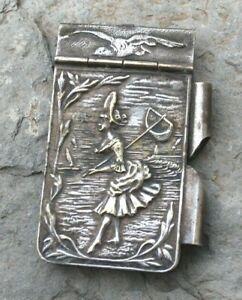 Ancien carnet de bal a décor de bord de mer