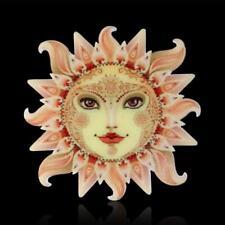 CG2261....LASER CUT ACRYLIC BROOCH - THE SUN WITH FACE - FREE UK P&P