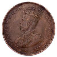 1920 Variety No Dot Australia Penny Coin (VF Details) KM# 23