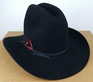 Sheplers Bunk House Black Mens Western Cowboy Hat 7.25 Brand New in Box B Bar H