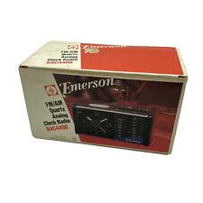 Vintage Emerson FM/AM Quartz Analog Clock Radio RAC4400 NOS