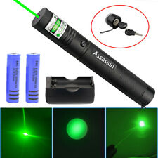 Green Laser Pointer Pen 500Miles 532nm Single Beam Lazer+2 x18650 Batt+Charger