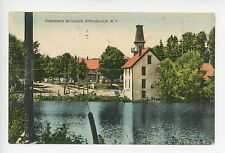 Firemen's Building SPRINGVILLE NY Rare Antique Hand-Colored PC ca. 1909