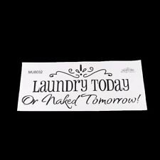 Laundry Today Vinyl Wall Decal Lettering Quotes Saying Room Decor DB