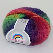 Sale 1ball Cashmere Wool Rainbow Wrap Shawl Sweater DIY Hand Kniting Yarn 12