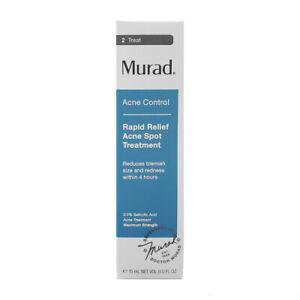 Murad Acne Control Rapid Relief Acne Spot Treatment Reduce Redness .5 oz 15 ml