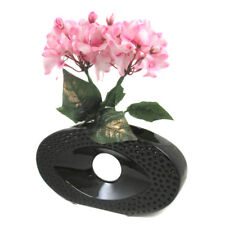 1Pc - 13CM Black Ceramic Vase Wedding Gift Decor Flowers House Centrepiece (A)