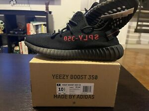 Adidas Yeezy Boost 350 V2 Bred Black/Red 2020 - Size 10.5