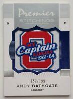 2007-08 O-Pee-Chee Premier 152/199 Andy Bathgate Stitchings Card