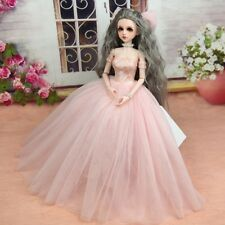 Mimi Collection MSD SD Toy Clothes 1/4 BJD Doll Pink Wedding dress with veil