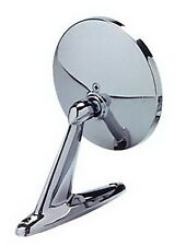 """CIPA Car Mirror Universal 17000  Round 4.75"""" Chrome Plated Plastic Left Or Right"""